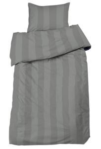 Bäddset Big stripe, ljuvligt skön satin, färg grå