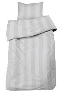 Bäddset Big stripe, ljuvligt skön satin, färg ljusgrå