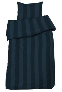 Bäddset Big stripe, ljuvligt skön satin, färg marin