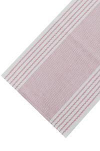 rosa löpare med ränder till bordet