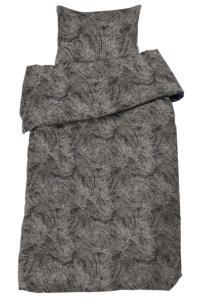 Bäddset Boss, paisleymönstrad satin, grå