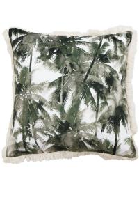 Kuddfodral Cancun i sammet med palmer, grön