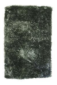 Badrumsmatta Carat, mjuk chenille, mörkgrön