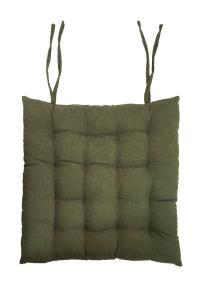 Stolsdyna Cord, enfärgad manchester, grön