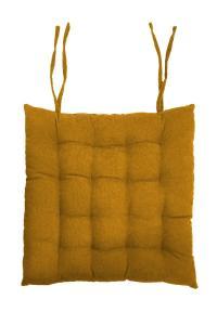 Stolsdyna Cord, enfärgad manchester, guld