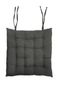 Stolsdyna Cord, enfärgad manchester, grå
