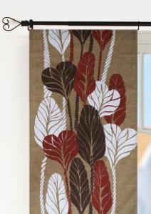 Panelgardin Delia 2-pack, härligt stora blad täcker denna panelgardin, brun