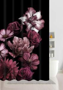 Duschdraperi Grande med vackra digitaltryckta blommor