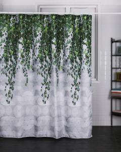 Duschdraperi med hängande grenar