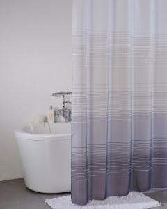 Duschdraperi Stripe med grå ränder