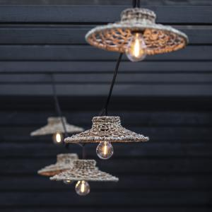 Ljusslinga SARI, svart Flex Out, E27, 5st lampskärmar