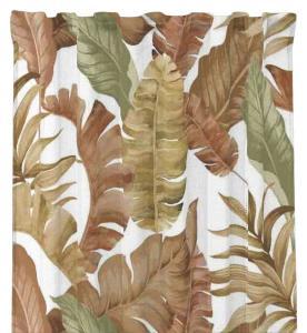 Gardinlängd Gale, stora löv, terracotta