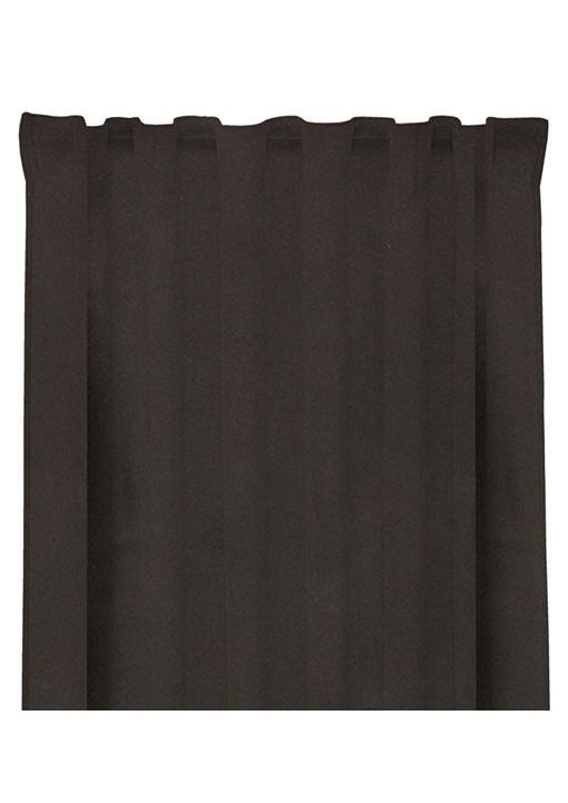 Gardinlängd Good Night, mörkläggande enfärgad med multiband, svart