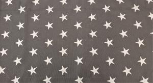 Gardinkappa, vita stjärnor på grå botten