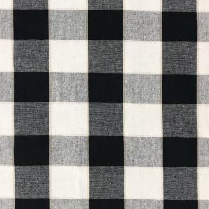 Gripsholmsruta på metervara i bomull, svart/vit