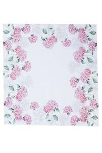 Bordduk Hortensia med vit spets, rosa