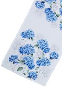 Bordlöpare Hortensia med vit spets, blå