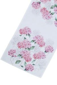 löpare med rosa blommor, hortensia