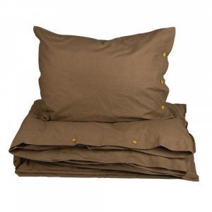 Bäddset HYGGE, Kingsize, enfärgat, brun