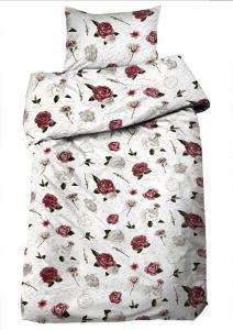 Bäddset Jodi, vackra rosor i romantisk stil, färg rosa