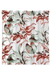 Gardinlängd Jonna, sammet, olika blad med något suddig kontur, röd