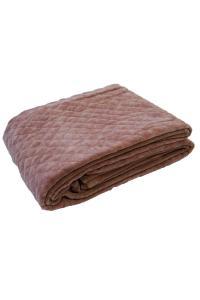 Fotpläd Kalahari, stentvättad och quiltad sammet, rosa