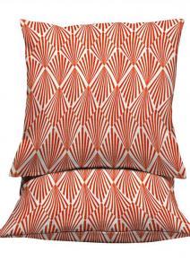 Kuddfodral Kano, grafiskt mönster i retrostil, orange