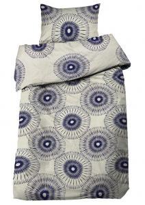 Bäddset Kugghjul i stort mönster, färg blå