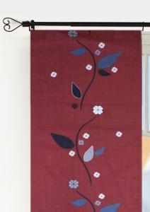 Panellängd Limbo, 2-pack, blomslinga på vinröd botten