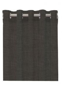 Öljettlängd Linoso, enfärgad gardin i lite kraftigare kvalitet, mörk grå