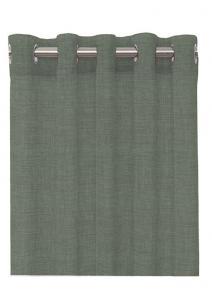 Öljettlängd Linoso, enfärgad gardin i lite kraftigare kvalitet, grå