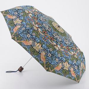 Paraply William Morris, Strawberry Thief, blå