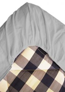 Dra-på-lakan i bomull i tre storlekar, grå