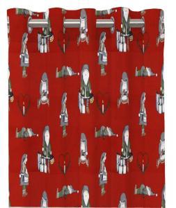 Gardinlängd Nissar, tomtenissar, röd