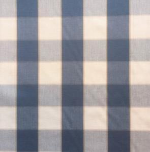 Gripsholmsruta på metervara i bomull, mellanblå/vit
