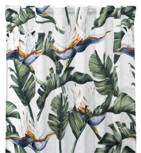 Gardinlängd Paradis, tropiska blommor och blad, multi