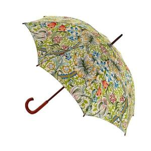 Paraply William Morris, Golden Lily, grön