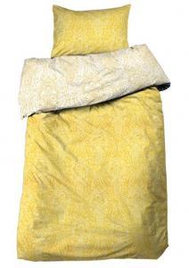 Paisleymönstrat Bäddset Philip i satin, gul
