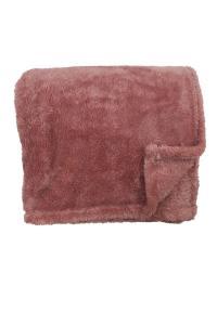 Pläd Recycle, fluffig och skön, färg rosa