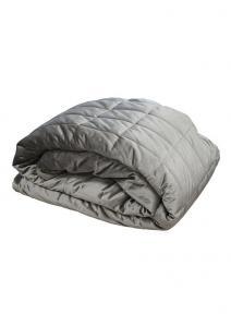 Stora quiltade överkast och sängöverkast i sammet från Redlunds.  Till dubbelsäng och enkelsäng i färgen ljusgrå.