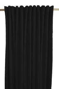 Gardinlängd Sammet, enfärgad med extra tyngd för vackert fall, svart