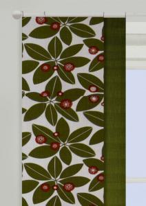 Panellängd Sendai, 2-pack. Stora löv i retrostil, grön
