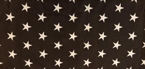 Gardinkappa, vita stjärnor på svart botten