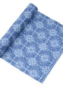 Bordslöpare Tilde, vackert mönstrad löpare, blå