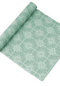 Bordslöpare Tilde, vackert mönstrad löpare, grön