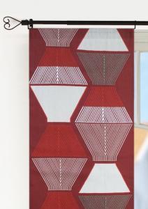 Panellängd Tolouse, 2-pack stormönstrad retrostil, vinröd