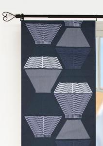Panellängd Tolouse, 2-pack stormönstrad retrostil, grå
