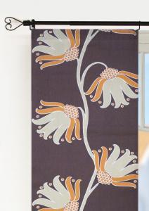 Panellängd Topas, 2-pack. 70-talsinspirerade stora blommor, brun