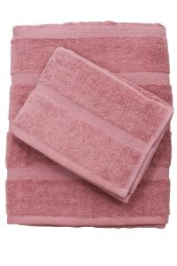 Frotté Topaz, mjuk och skön med vävda ränder i BCI bomull - Better Cotton Initiative, rosa