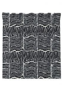 Gardinlängd Tunis, snyggt etniskt grafiskt mönster, vit/svart